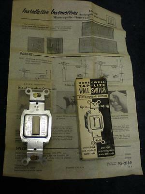 Vintage Honeywell Tap-Lite Switch New Old Stock 23Ws1