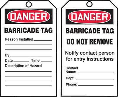 ACCUFORM SIGNS TAR158 Danger Tag By The Roll, 6-1/4 x 3, PK 250