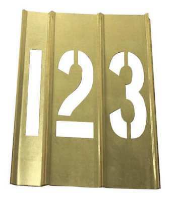20Y516 Brass Stencils, 15 Piece Number, 1 1/2 In