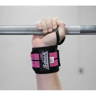 "Schiek Sports Model 1112 Heavy Duty 12"" Wrist Wraps - Pink/Black"