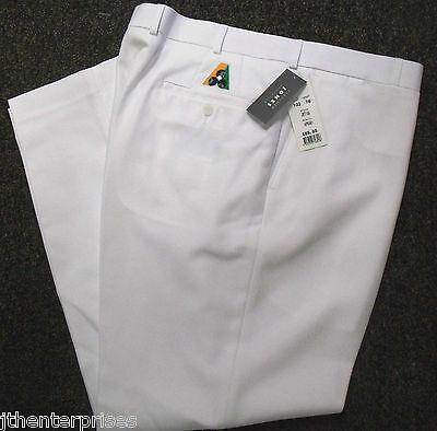 Fletcher Jones Lawn Bowls Trousers Pants WHITE BA Logo  60%  OFF FREE POSTAGE