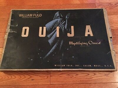 Vintage 1960's William Fuld/Parker Brothers Wooden Ouija Board
