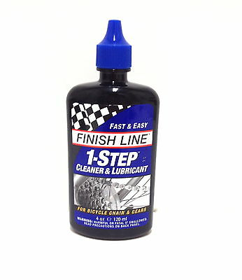 Finish Line 1 One Step One Bicycle Bike Chain Cleaner & Lube Lubricant 4 Oz New