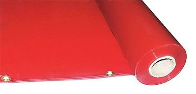 WESTWARD 22RN53 Welding Curtain Roll, 75 ft. W, 5 ft., Red