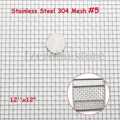 Stainless Steel Woven Wire 5 Mesh Filter Sheet Cloth Screen Filtration 30x30cm
