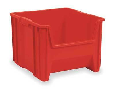 AKRO-MILS 13018RED Stacking Bin, 17-1/2 In. L, 16-1/2 In. W