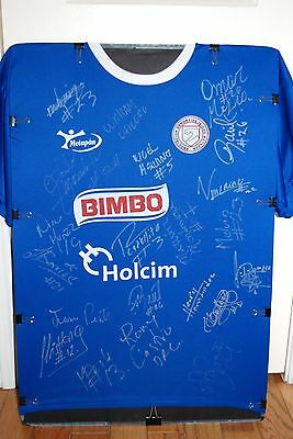 2013 El Salvador Champs A.d. Isidro Metapan Team Sign Soccer Jersey W/photo Prof