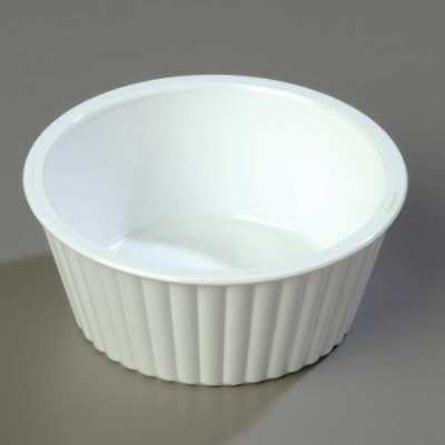 White Fluted Ramekin, White ,Carlisle, 84502