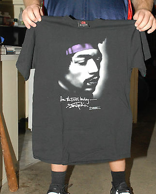 Jimi Hendrix Zion T Shirt W Song Lyric Quote Med Mint- Nm+ High End Merch