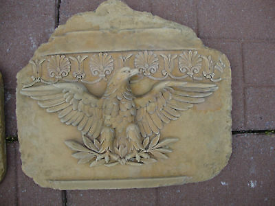 Roman Eagle stone wall plaque art sculpture home decor animal bird birds relief