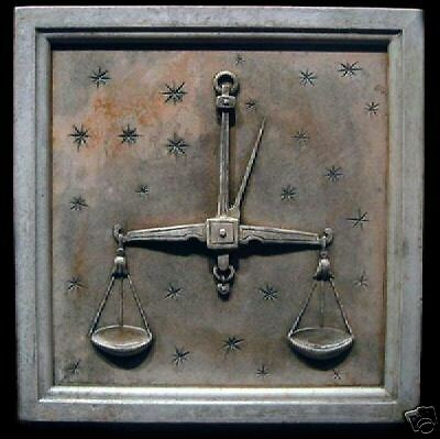 Libra Zodiac sign wall plaque art stone sculpture home & garden decor horoscope