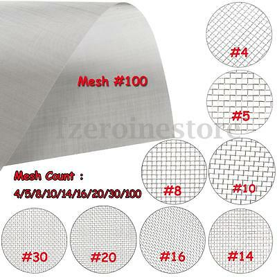 4/5/8/10/14/16/20/30/100 Mesh Stainless Steel Woven Wire Filter Sheet Grill Fine