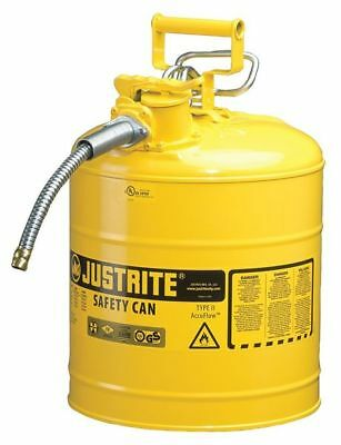 JUSTRITE 7250220 Type II Safety Can, Yellow, 17-1/2 In. H