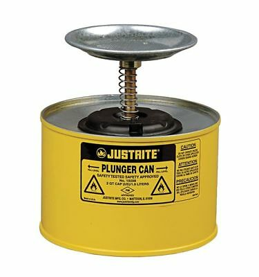 JUSTRITE 10218 Plunger Can, 1/2 Gal., Steel, Yellow