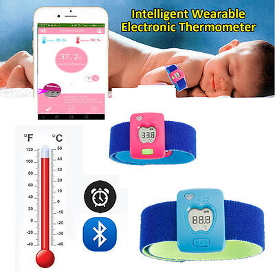 New Wearable Smart Thermometer Baby Kid Bluetooth Monitor Safty for IOS Android
