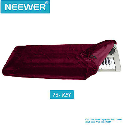 Neewer Keyboard Dust Cover for 76 Key Keyboards(Rose Red)