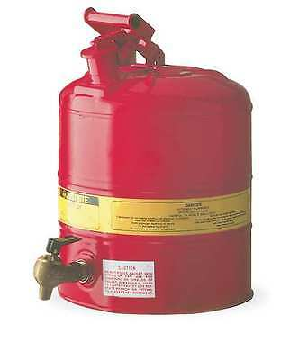 JUSTRITE 7150140 Type I Faucet Safety Can, 5 gal., Red
