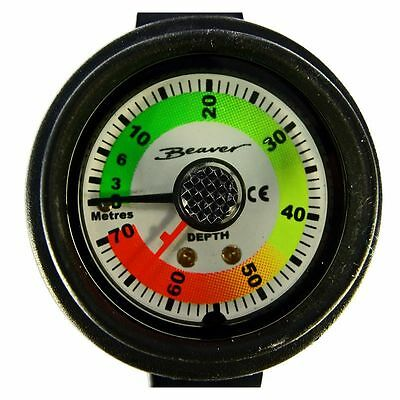 DIVE 70 Metre DEPTH GAUGE in Smart WRIST Mount CONSOLE Holder with STRAP