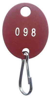 GGS_31366 Key Tag Numbered 1 to 100, Oval, PK 100