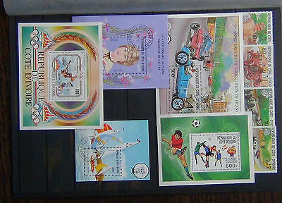 Ivory Coast 1981 Grand Prix M/S 1982 World Cup M/s 1982 Princess M/S + others U
