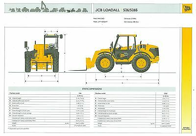 2004 Jcb Loadall 526 & 526S Specification Brochure