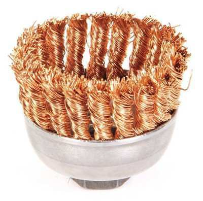 """Weiler Single Row Knot Wire Cup Wire Brush, 2-3/4"""", 13299"""