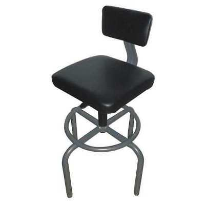 """Pneumatic Task Chair Backrest, Height 26-1/4"""" to 32-1/4"""", Padded Gray, 44N715"""
