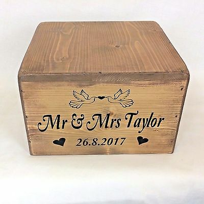Personalised Wedding CAKE STAND Rustic Wooden Vintage Wedding Table Decoration