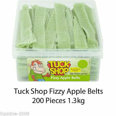 Tuck Shop Fizzy Apple Belts Sweets Box Party Wedding Favours Kid Treat Discount