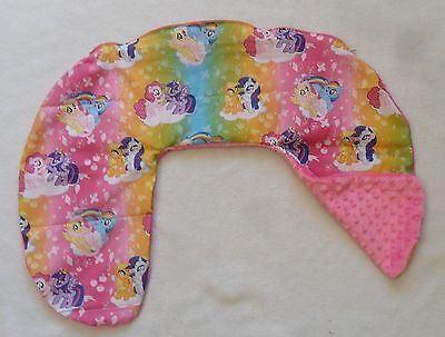 My Little Pony and Hot Pink Minky Dot Nursing Pillow Cover Fits Boppy