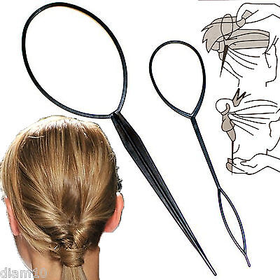Hair Braid Topsy Twist Styling Loop Ponytail Styling Tool  2 Pieces In Set