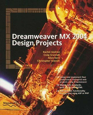 Dreamweaver MX 2004 Design Projects Apress 61702 Anglais 278 pages Broche Book