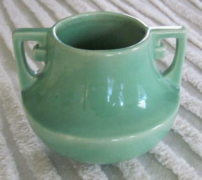 "1935-1940 Stangl Pottery Silver Green 3"" Vase #2019"