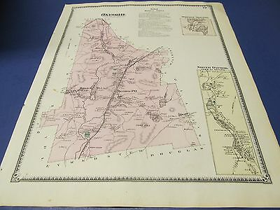 1870 original map of  Oxford  Ma. by Beers