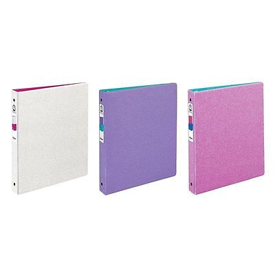 """(3) Avery Glitter Binder with 1"""" Round Ring, 175-Sheet Capacity ~1 of Each Color"""