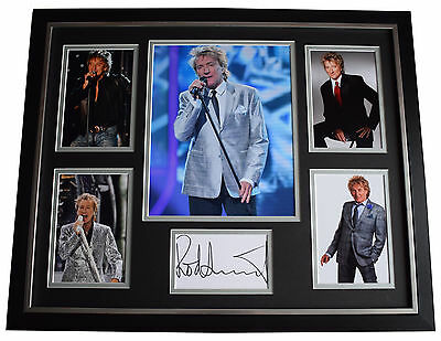 Rod Stewart SIGNED Framed Photo Autograph Huge display Music AFTAL & COA