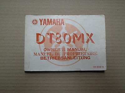Yamaha DT 80 MX DT80 DT80MX genuine owners manual 12X-28199-80 USED