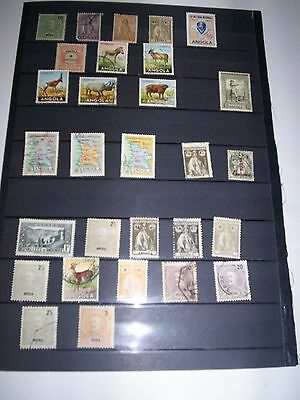 Great LOT of Angola Stamps removed from albums Some old ANG21