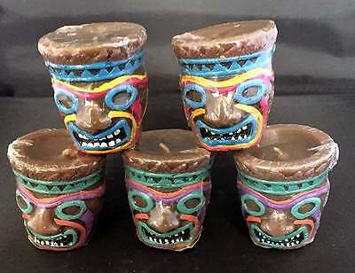 Easter Unlimited Set Of 5 Plastic Tiki Shot Glass Votive Candles New