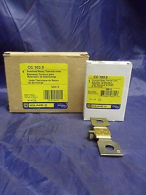 New Lot Square D CC 103.0 Overload Relay Thermal Unit NIB