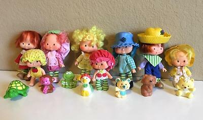 Vintage 1980's Strawberry Shortcake doll lot & pets smell great!
