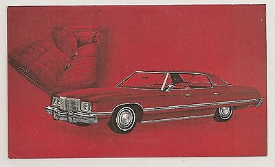 "Chevrolet- ""1974 CAPRICE CLASSIC SPORT SEDAN"" - on a postcard"