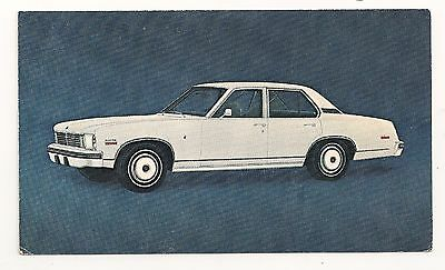 "Chevrolet- ""1975 CHEVROLET NOVA LN"" - on a postcard"