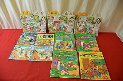 McDonald's Happy Meal Advertising Lot 1990 Berenstain Bear Books & Boxes  1368