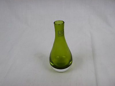 LSA Poland Olive Green Glass Vase Hand Crafted Mouth Blown 5.5""