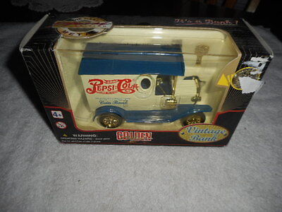 Pepsi Cola Bank Diecast Delivery Vehicle New