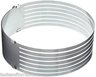 Kitchen Craft Cake 6 Layer Adjustable Stainless Steel Slicer & Cutting Guide