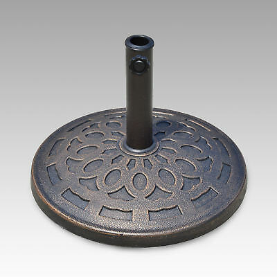 Outsunny 14kg Durable Patterned Colophony Garden Patio Umbrella Round Base Stand