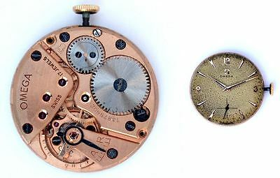 OMEGA 266 original vintage manual winding watch movement working (4840)
