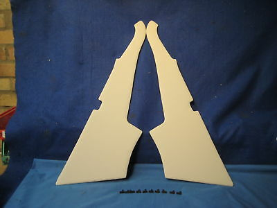 Mg    New Pair  Mgb Gt Grey C Post Panels And Clips 1965-76    ***g2B